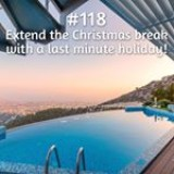 365 things to do with money from Kite Loans - extend the #christmas break with a last minute holiday!  #loan #fastloan #quickcash #finance #holiday #sunset #break